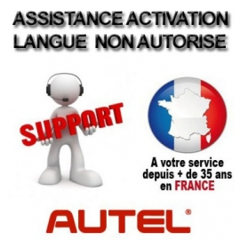 Assistance activation changement langue
