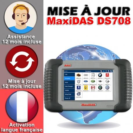Mise à jour internet pour DS708 1 an