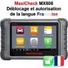 MX808 Déblocage langue