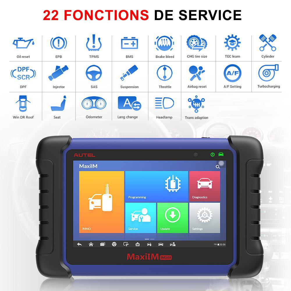 Fonction de service et maintenance IM508