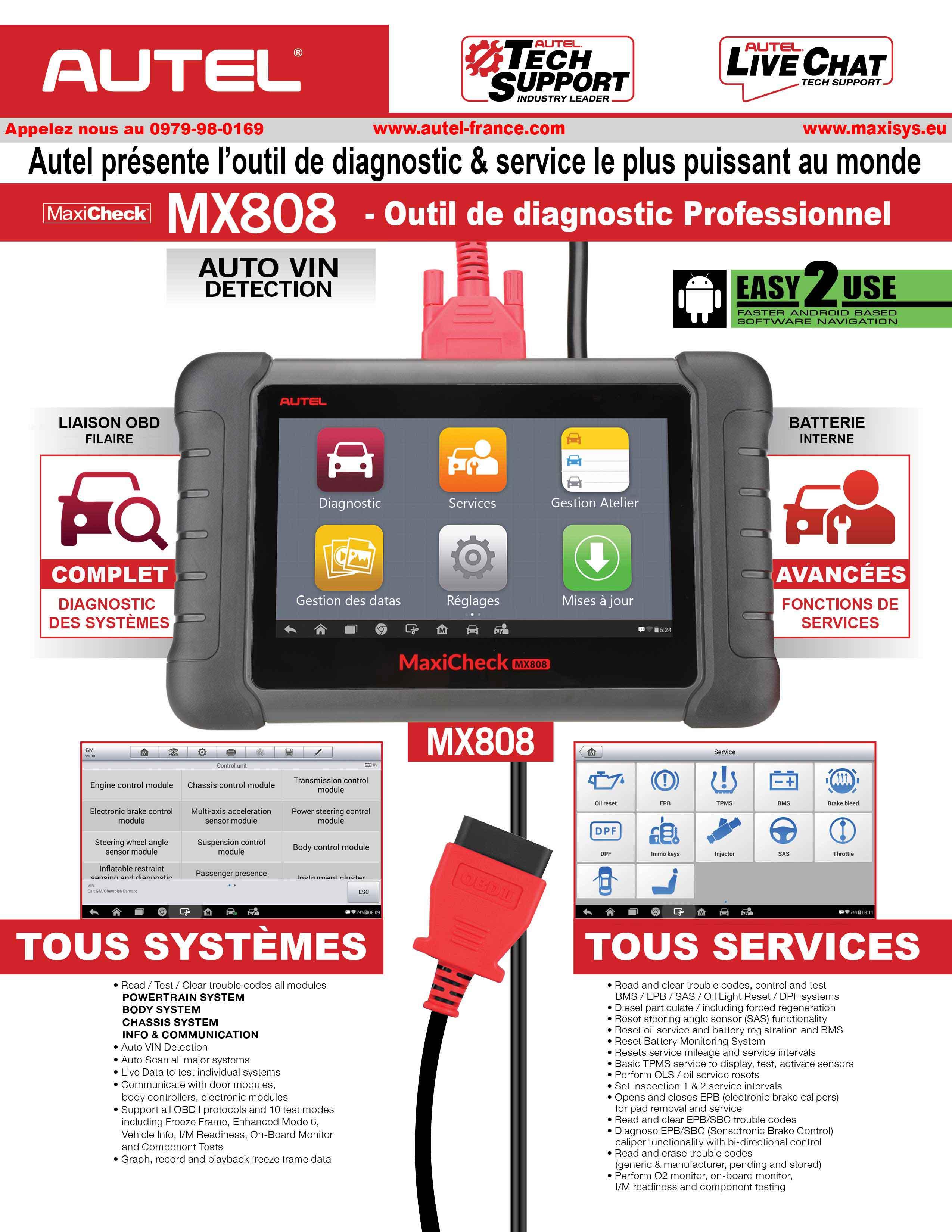 MaxiCheck MX808 AUTEL