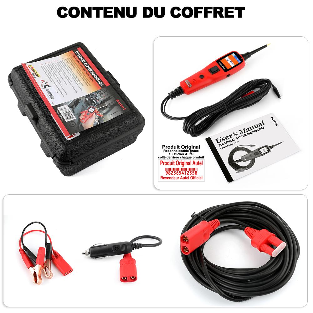 Contenu du coffret AUTEL Powerscan PS100