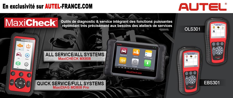 Nouvelle gamme d'outils de diagnostic MaxiCheck AUTEL encore plus puissante