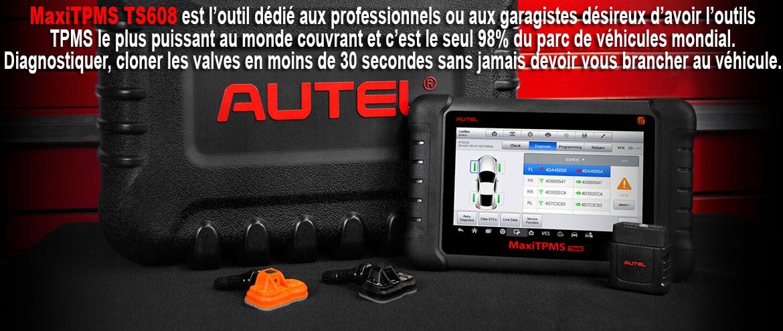 MaxiTpms TS608 outils valves TPMS le plus puissant au monde 98% parc auto mondial